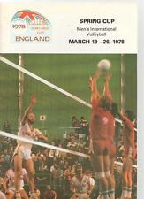 SPRING CUP MEN'S INTERNATIONAL VOLLEYBALL MAGAZINE - March 19 - 26 1978