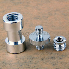 "Hot 1/4"" 3/8"" Thread Screw Mount Adapter to Light Stand Umbrella Holder Camera"