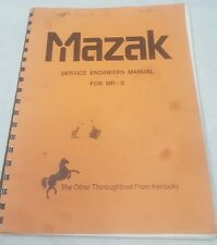 Mazak Service Engineers Manual for MR-S   M39
