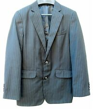 CHAPS Black Pinstripe Blazer Suit Jacket Fully Lined Kids Boys Youth 12 Reg