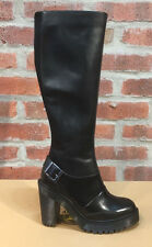 DR. MARTENS LYANNA BLACK POLISHED BUTTERO + LAUSANNE  LEATHER  BOOTS SIZE UK 3