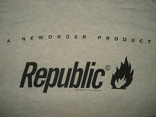 Vintage Early 90s NEW ORDER REPUBLIC T SHIRT Joy Division 1993 Concert RARE M/L