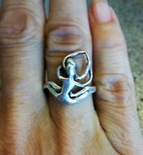 EROTIC LOVERS Sterling Silver Ring -  Handmade Delicate Looking UNIQUE