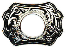 "Silver Dollar Belt Buckle, 3-3/4"" x 2-1/2"" MADE IN USA"