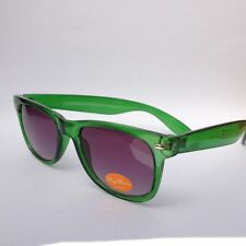 400UV-Ray black protection lens! clear green wayfarer sunglasses 80@ban_that_sun