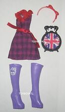 Monster High Londoom Ghoulebrities Elissabat Doll Outfit Clothes Dress Shoes NEW