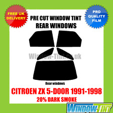 CITROEN ZX 5-DOOR 1991-1998 20% DARK REAR PRE CUT WINDOW TINT