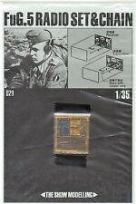 THE SHOW MODELLING 029 - 1/35 PHOTO-ETCHED FOTOINCISIONI FuG.5 RADIO SET & CHAIN