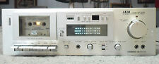 AKAI SUPER GX-M10 STEREO CASSETTE DECK Plays but needs TLC Parts or Repair