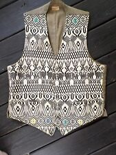 BROOKS BROTHERS vintage 60s ivory native cotton unique waistcoat vest 40R