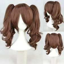 New Lolita Brown Two Ponytail Cosplay Wigs Cos Wig Free Shipping