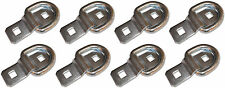 """8 - 3/8"""" Stainless Steel D Ring Rope Chain Tie Downs Car Truck ATV Snowmobile"""