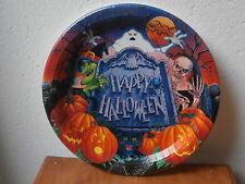 *** Piatti party Halloween zucca 8 pezzi 26.7 cm festa bicchieri tovaglioli ***