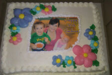 CUSTOM CAKE Topper Any Photo ICING Image Birthday Party Supply