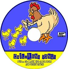200+ ALL TIME FAVOURITE CHILDREN SONGS & NURSERY RHYMES NEW MP3 EDUCATION CD