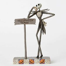 Disney Traditions Jim Shore NBC Nightmare Jack with Halloween Town Sign Figurine