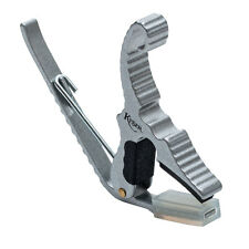 Kyser Short Cut Partial Guitar Capo in Silver Finish (KYS-KG3S)