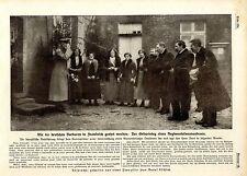 Wie die deutsche Barbaren in Frankreich geehrt wurden c.1915