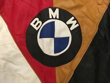 Vintage BMW Leather Varsity Jacket....(Bomber, Hip Hop, 80s 90s, NYC, Deadstock)