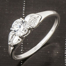 Stunning 18K White Gold Filled Flawless Zirconia Cubic Women's Ring 7