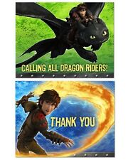 How to Train Your Dragon ~ (8) Invitations & Thank-You Cards ~ Birthday Party