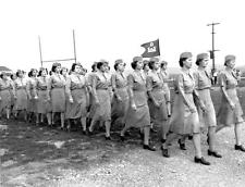 Photo. WW2. Tennessee.   Military Review Women's Army Corps WAC