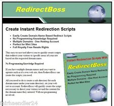 REDIRECT BOSS UMLEITUNGS-SCRIPTS DOMAIN-NAMEN ERST. ENGLISCHE SOFTWARE E-LIZENZ