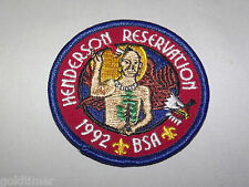 VINTAGE BSA BOY SCOUT PATCH 1992 HENDERSON RESERVATION