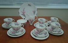 ROYAL ALBERT TEASET GORGEOUS PIXIE PINK PERFECT UNUSED VINTAGE CONDITION.