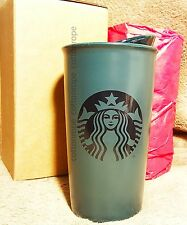 Starbucks Navy Blue 2015 Limited Edition Ceramic Double Wall Traveler 12 oz Mug