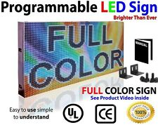 "FULL COLOR LED SIGN 38""X12"" VIDEO IMAGE LOGO OPEN SIGN SCROLLING MESSAGE DISPLAY"