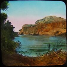 Glass Magic Lantern Slide THE RIVER JORDAN C1890 PHOTO ISRAEL PALESTINE
