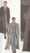 Simplicity Style Sewing Pattern Men's Over Coat Jacket Size 34-48 inch 87-122 cm