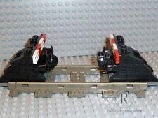 LEGO® Eisenbahn 2 Prellböcke Prellbock schwarz mit Puffer+Magnet 9V 4,5V 12V