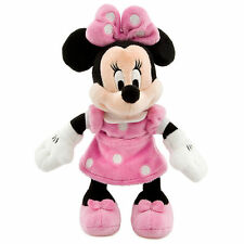 "Disney Parks Minnie Mouse Pink Polka Dot Plush Toy 9"" Soft Doll Girls Gift NEW"