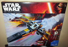 STAR WARS POE'S X-WING FIGHTER + POE DAMERON PILOT THE FORCE AWAKENS NEW BLACK