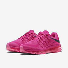 NIke Air Max 2015 Womens Running Trainers Shoes UK 4.5 EUR 48 Pink Black