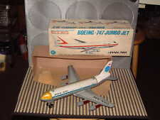 ALPS FRICTION (PULL-BACK) TIN & PLASTIC BOEING 747 JUMBO JET. WORKING W/BOX!