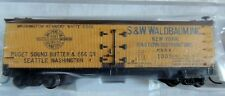 ATLAS N GAUGE  40' WOOD REEFER PUGET SOUND BUTTER & EGG CO. S.W. WALDBAUM