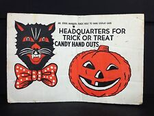 Vintage Halloween Grocery Candy Store Retailers Sign