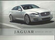 Jaguar Xj de lujo, Premium De Lujo, Cartera, Supersport inc.lwb Precio Folleto 2011