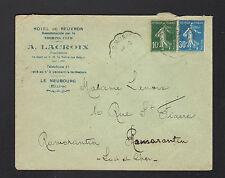 """LE NEUBOURG (27) HOTEL DE BEUVRON """"A. LACROIX Propriétaire"""" Voyagée en 1926"""