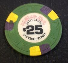 NEVADA HOTEL $25 CASINO CHIP LAS VEGAS NEVADA H & C MOLD 1980's FREE SHIPPING