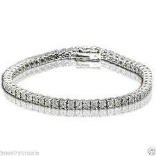 1 ROW DIAMOND WHITE GOLD FINISH TENNIS BRACELET 7 INCH