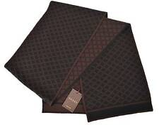 New Gucci 347965 Men's Wool Diamante Reversible Brown and Black Scarf Muffler