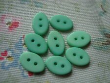 8 Oval Mint Green Plastic Buttons