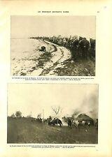 WWI Kosovo Soldiers Serbia Army Village de Rajagne Serbie Horses A ILLUSTRATION