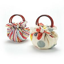 Japanese Furoshiki wrapping cloth cotton Modern strawberry bag 70cm with ring