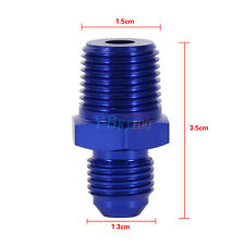 "AN6 6AN To 3/8"" NPT Straight Fuel Oil Air Hose Fitting Male Adapter Car Blue AP"