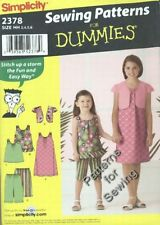 Pattern Simplicity Sewing Patterns for Dummies Girl Sz 3-6 Bolero Tunic NEW